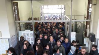 L'ingresso del Badoni all'Open Day